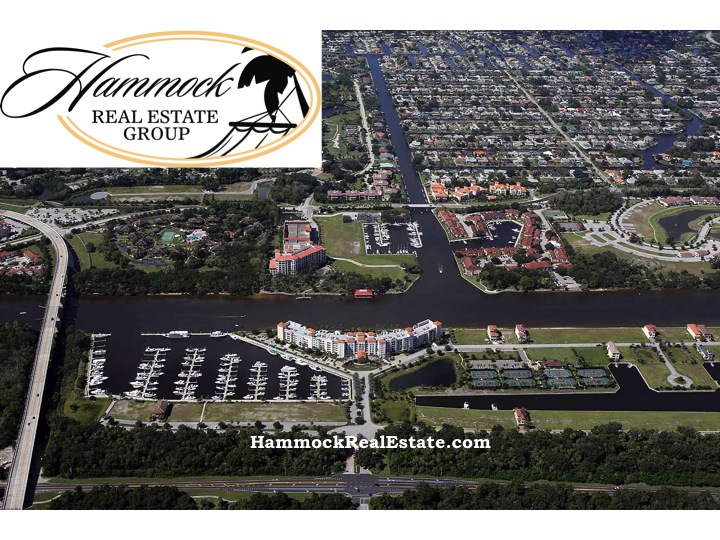yacht harbor village aerial with hammock logo